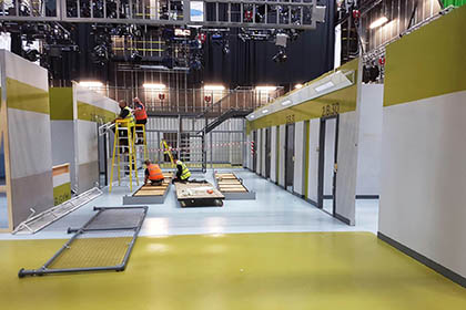 Porridge Set Build – EC Creative Services – BBC / Media City