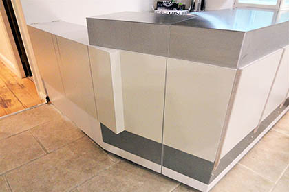 Reception Counter – Christoria Beauty Salon, Saddleworth