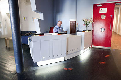 Interchangeable Reception Desk – Zion Arts Centre – Manchester