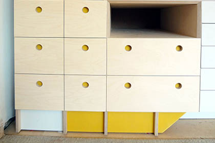 Design Build Installation –  Storage Cabinetry – Artists Studio