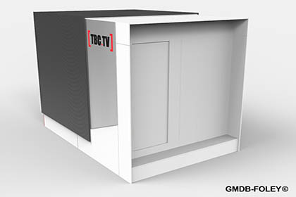 TBC:TV Michael Anthony Barnes Wynters Modular Lab Set Designs GMDB© Pier 8 Lowry Manchester