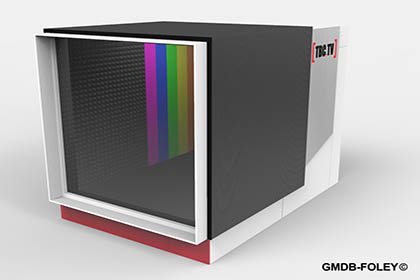 TBC:TV Michael Anthony Barnes Wynters Modular Lab Set Designs GMDB© Pier 8 Lowry Manchester