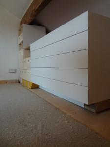 Design Build Installation. Storage Cabinetry. Artists Studio.